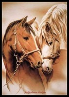 Horses in Love Counted Cross Stitch Kits Handmade Needlework for Embroidery 14 ct Cross Stitch Sets DMC Color