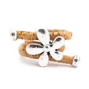 Image 5 - 10 unités de liège naturel et fleur accessoires anneau, Original fait main femmes anneau R 694 MIX 10
