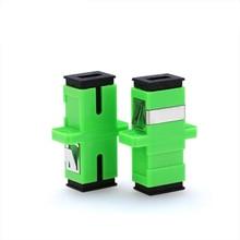 Акция 200 шт./лот SC APC адаптер разъем симплекс одиночный режим пластик SM волокно оптический адаптер 0.3dB