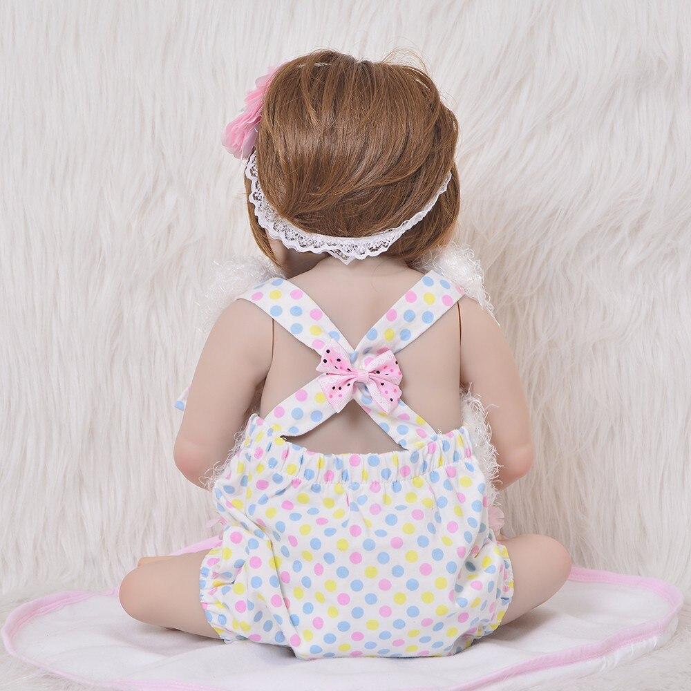 Nueva llegada Reborn Baby Dolls 23 pulgadas de moda de silicona completa de vinilo Bebe Reborn princesa bebé juguete niños Surprice-in Muñecas from Juguetes y pasatiempos    3