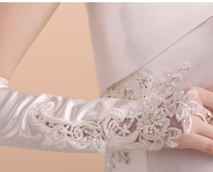 Image 2 - 5pc / lot Kid child flower girl long student white gloves unisex dancing performance gymnastics  free shipping 8 12 years old