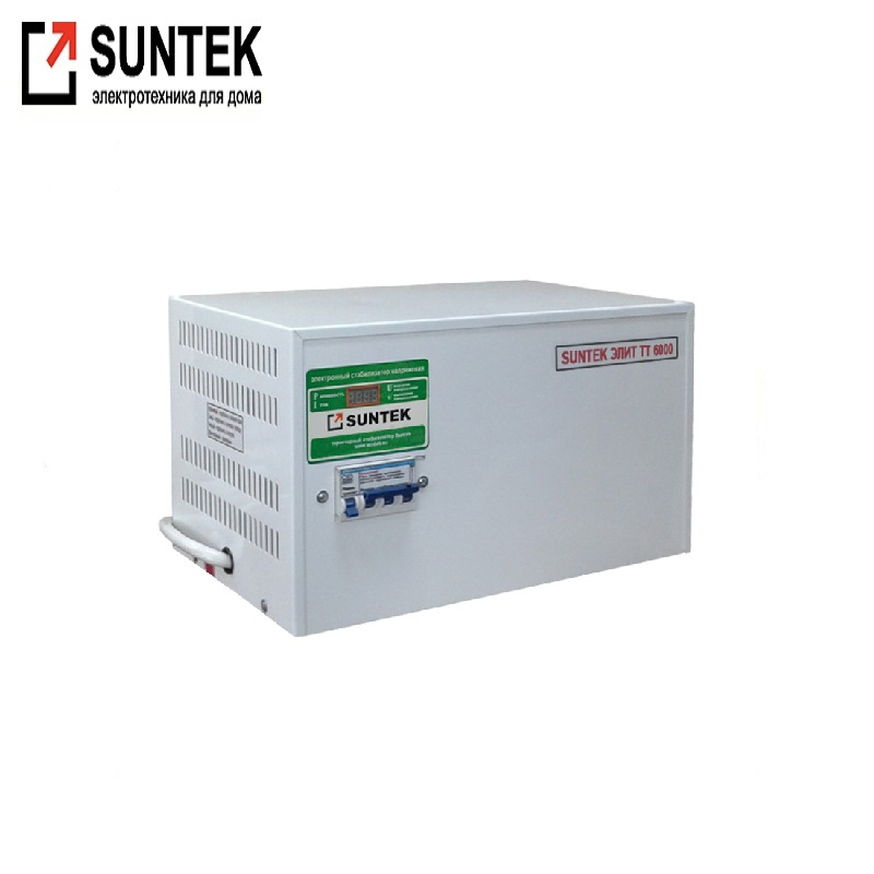 Voltage stabilizer thyristor SUNTEK Elite TT 6000 VA AC Stabilizer Power stab Stabilizer with thyristor amplifier цена и фото