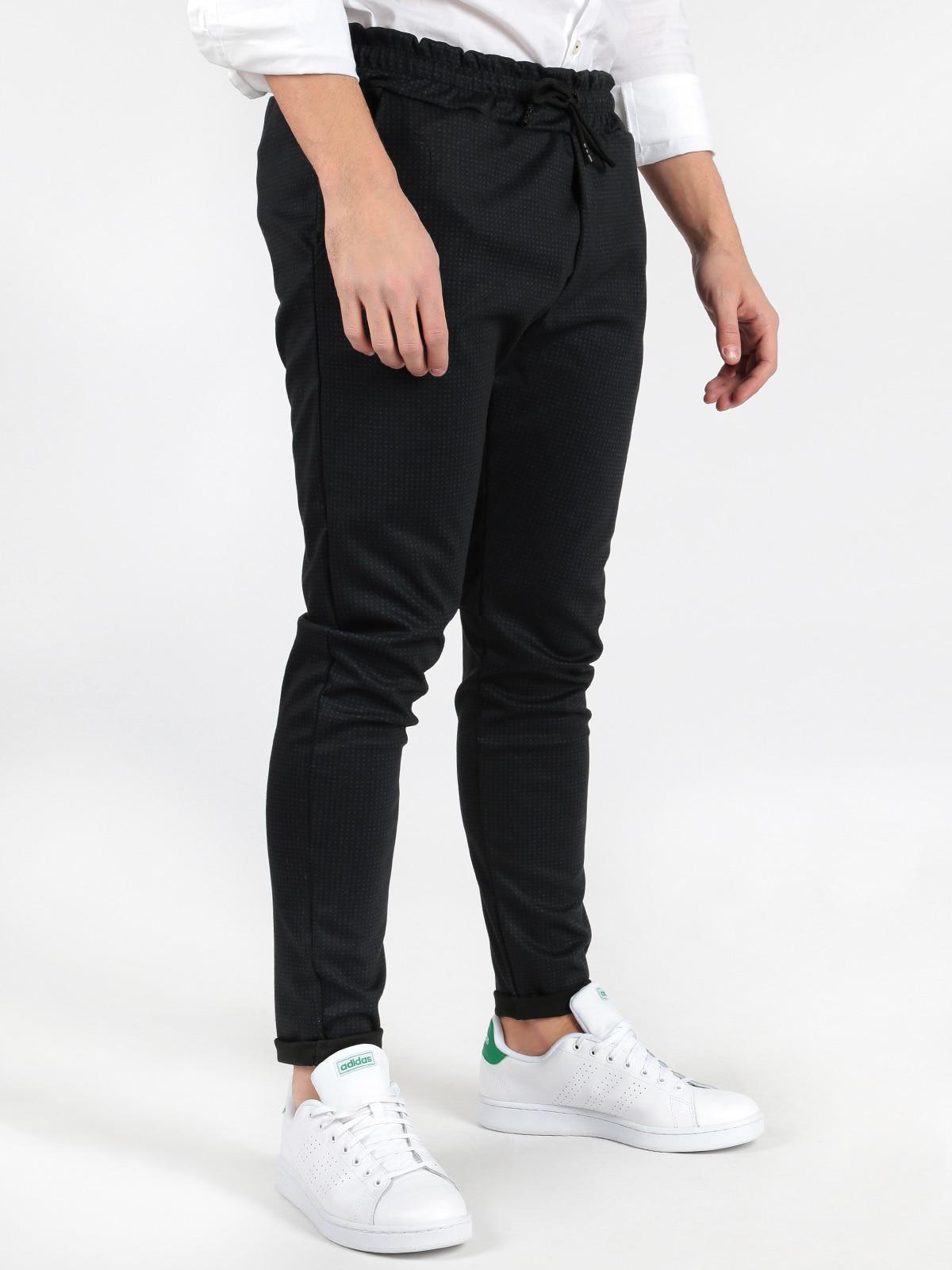 Pants With Microfantasia Printed