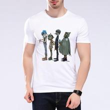 Gorillaz Rock Band Rap Hip Hop Anime Funny T-Shirt Casual Cotton Short Sleev Summer Style Punk Camisa Masculina Plus SizeL9k103