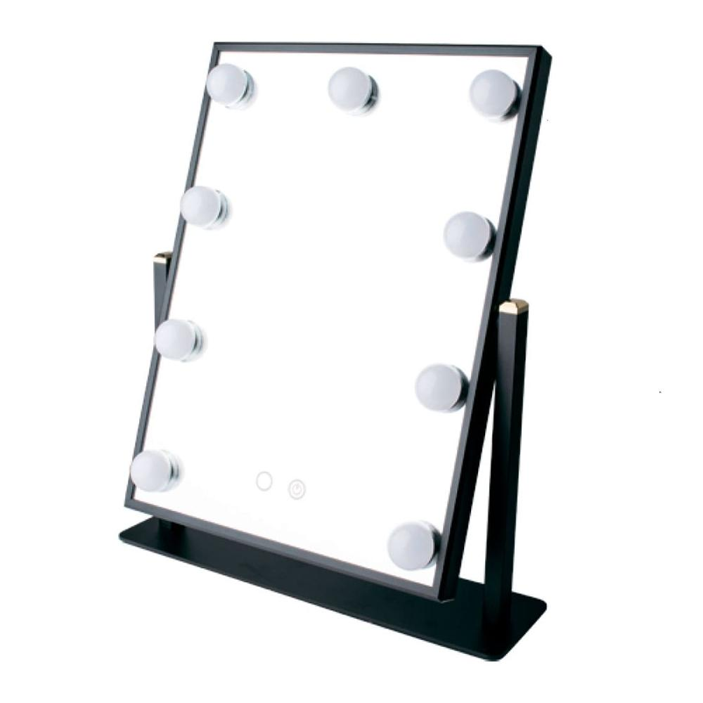 Make-up mirror professional 9 LED lamps warm and cold light uLike Maestro backlit mirror GESS acrylic frame led makeup mirror