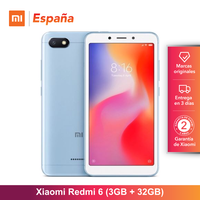 [Глобальная версия для Испании] Xiaomi Redmi 6 (Memoria interna de 32 GB, ram de 3 GB, Cara dual de 12 + 5 MP con IA) Movil