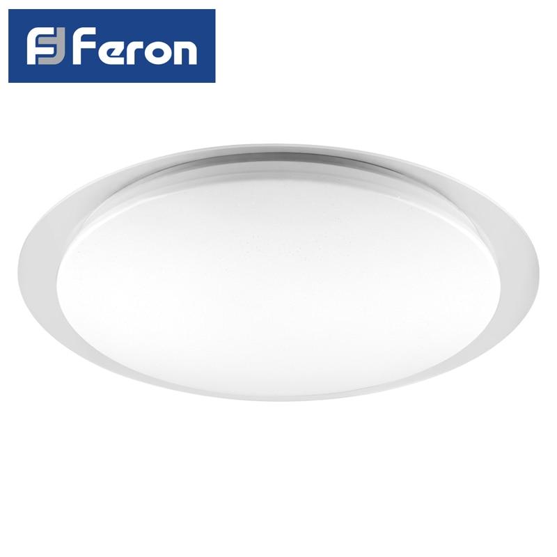Светодиодный управляемый светильник накладной Feron AL5000 тарелка 60W 3000К 6500K белый с кантом
