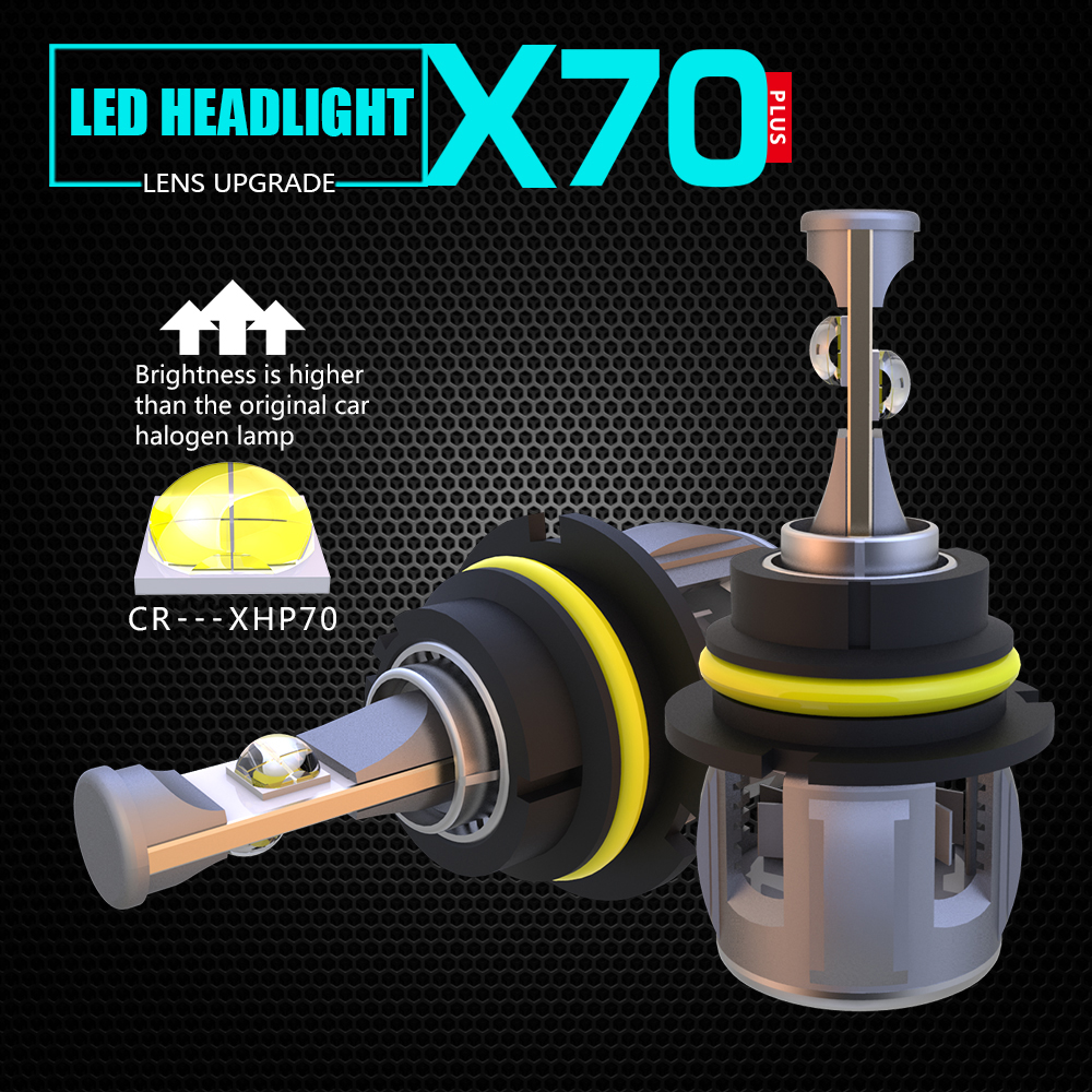 LMUSONU haute luminosité TURBINE refroidissement voiture X70 9004 9007 phare LED 12 V 24 V 120 W 15600LM pour AUTO
