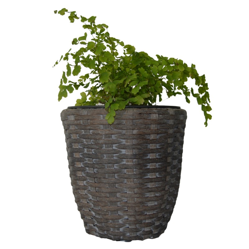 KieferGarden. PARANA Planter. Deliver From Spain. Synthetic Ratan.  Available In 3 Different Sizes. Exterior Poot.