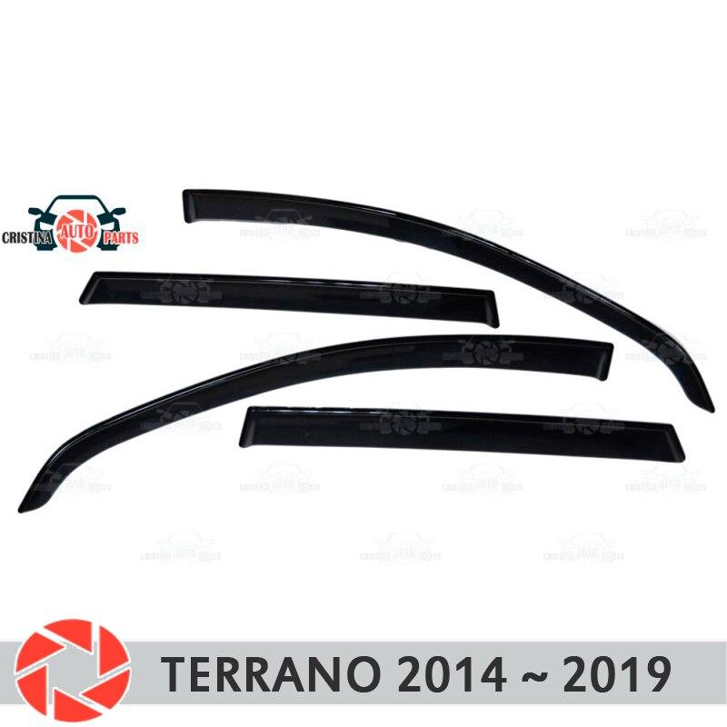Deflector janela para Nissan Terrano 2014-2019 chuva defletor sujeira proteção styling acessórios de decoração do carro de moldagem