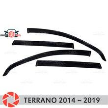 Окна отражатель для Nissan Terrano 2014-2019 Дождь Отражатель грязь защиты Тюнинг автомобилей украшения аксессуары для литья