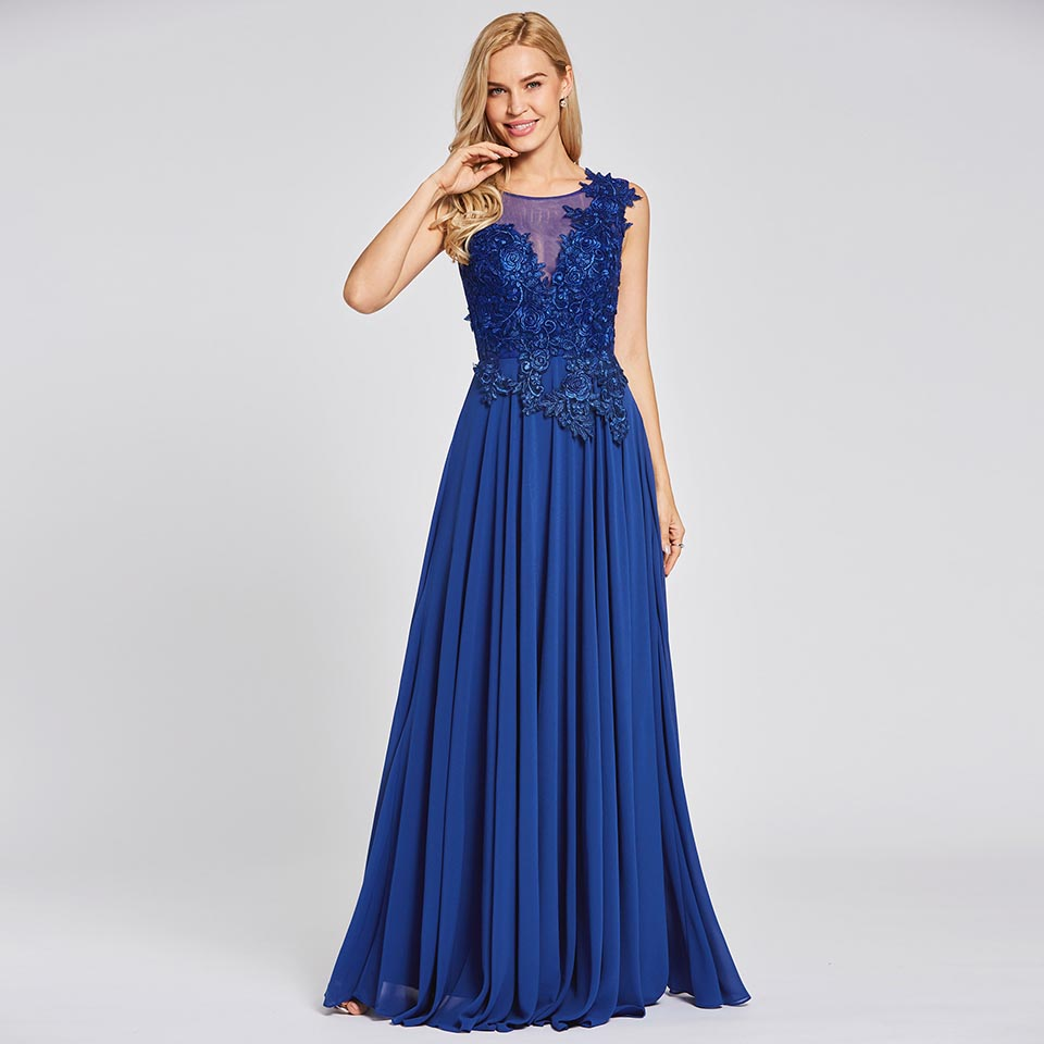 Dressv scoop neck a line   evening     dresses   sleeveless appliques lace up floor length gown cheap women party long   evening     dress