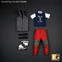 Accesorios a escala 1/6 para niños, juguetes para niños y niñas, FG039, Cool Cam, ropa, traje B para Tbleague Verycool Hottoys, cuerpo de figura de acción