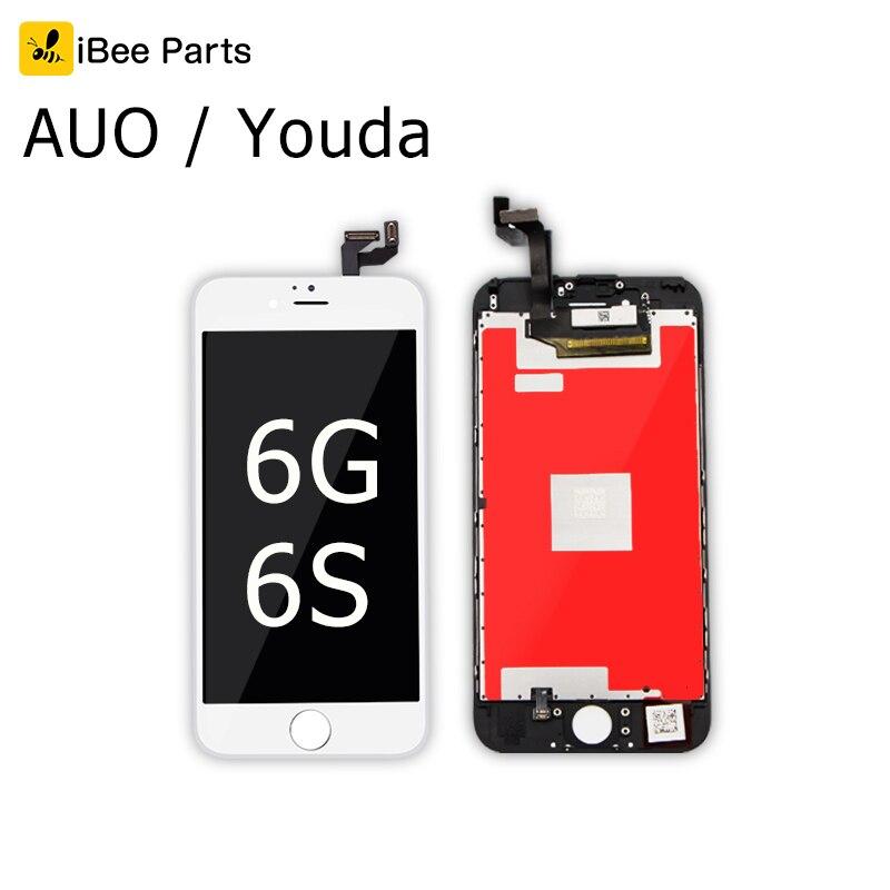 IBee piezas 10 piezas nueva generación de buena calidad AUO Youda para iPhone 6 iPhone 6 S LCD display de pantalla de 4,7 pulgadas lente de repuesto Pantalla