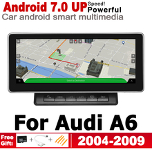2G+16G Android 7.0 up Car Radio GPS Multimedia Player For Audi A6 4F 2004~2009 MMI Navigation WiFi BT Navi Stereo недорого
