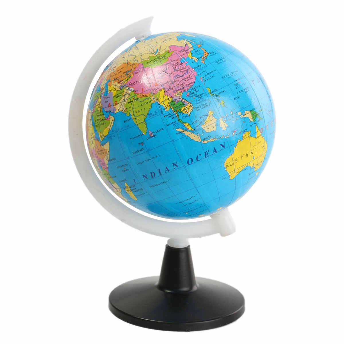 8,5 см пластиковый мини плавающий земной шар атласа карта с поворотной подставкой geogy Развивающие игрушки для детей подарок на английском языке
