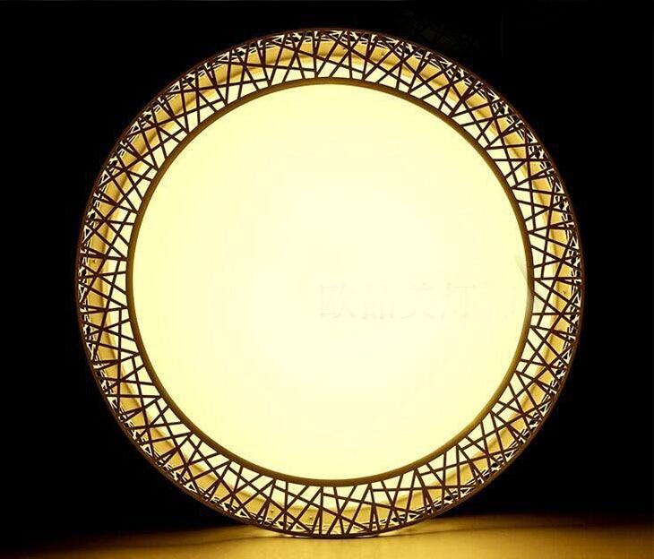 Modern LED ceiling lights for Bedroom living room Iron light fixture Home decorative Black/White Round Bird Nest Ceiling Lamp