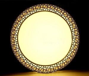 Image 5 - Plafonnier circulaire en fer, disponible en noir/blanc, éclairage décoratif de plafond, luminaire décoratif de plafond, idéal pour un salon ou une chambre à coucher