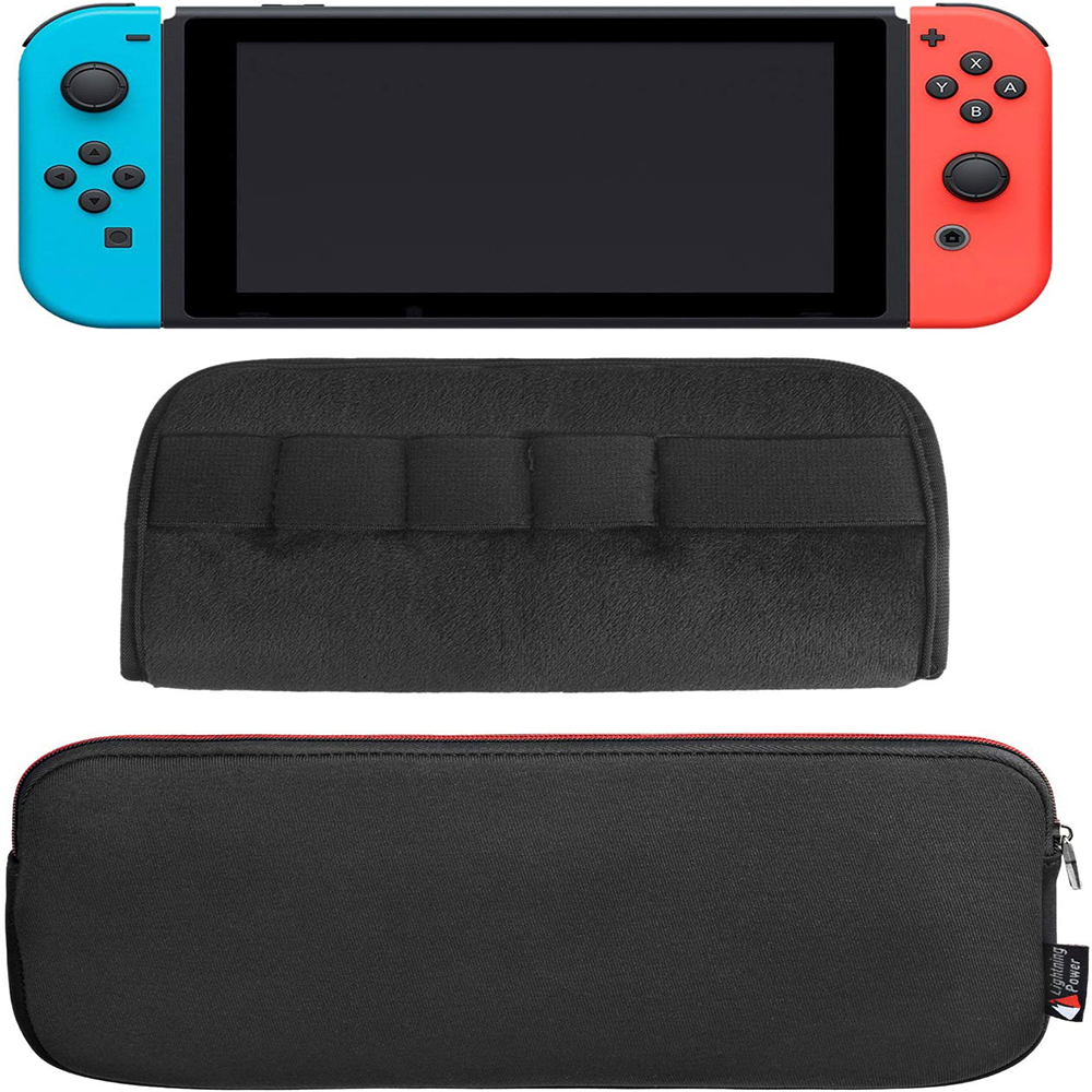 Lycra+Neoprene Zipper Protective waterproof nintend switch screen protector Carrying Case Bag storage box for Nintend Switch