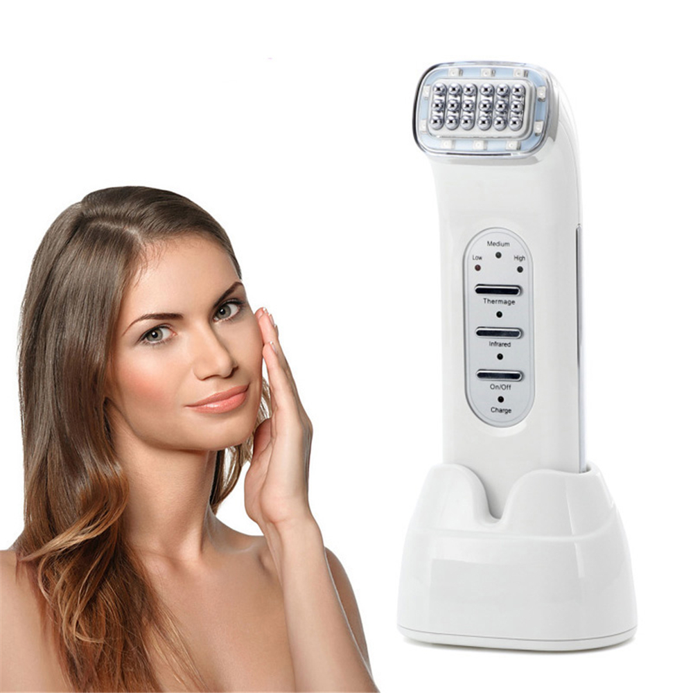 RF Radio Frequency Beauty Instrument Tighten Skin Pore Shrink Facial Care Tool high quality precision skin analyzer digital lcd display facial body skin moisture oil tester meter analysis face care tool