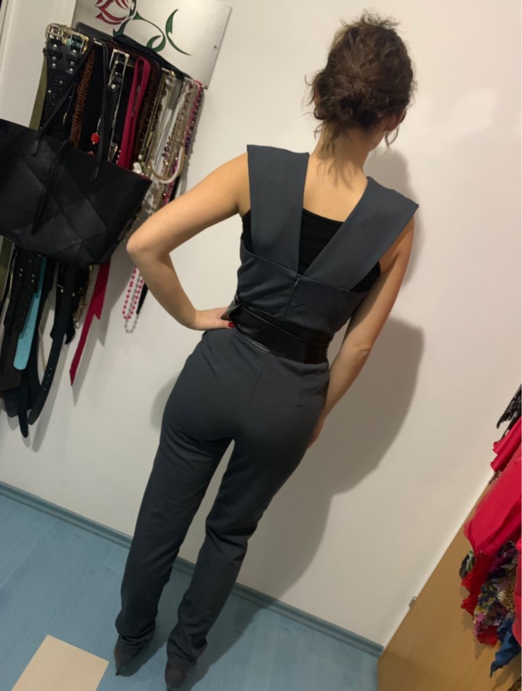 Free Shipping New Arrival Summer Jumpsuits for Women 2018 Gray Deep v Neck Fitted Elegant White Sexy Bodycon Jumpsuit Clubwear