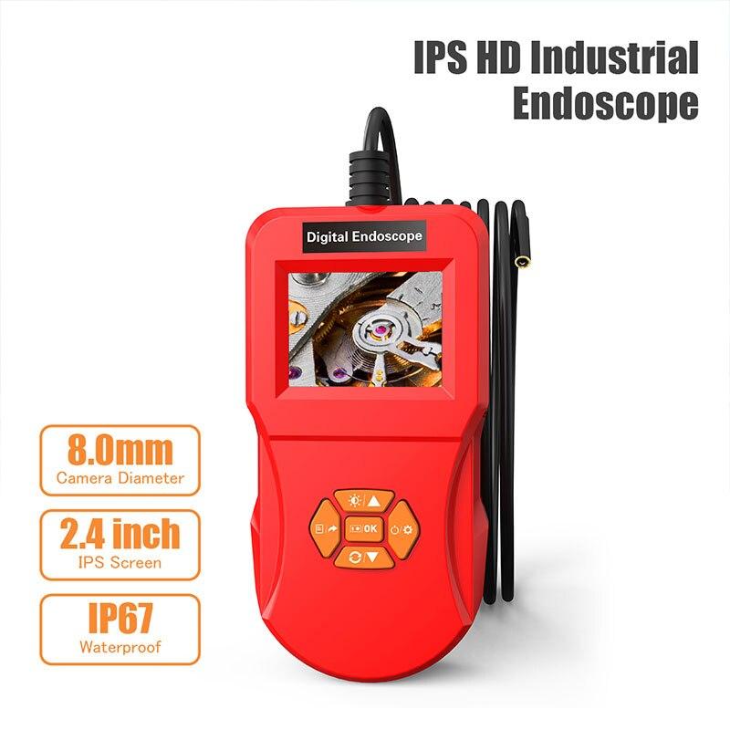 2.4-inch 0.3MP HD LCD Screen Professional Endoscope Camera In Surveillance Cameras Professional Auto Inspection Borescope