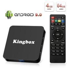 Leelbox K4 Caixa MAX RK3228 4 K Caixa de TV Quad Core 64 pouco Mali 450 100Mbp Android 9.0 4 GB + 64 GB HDMI2.0 2.4G WiFi BT4.1 Mais Recente