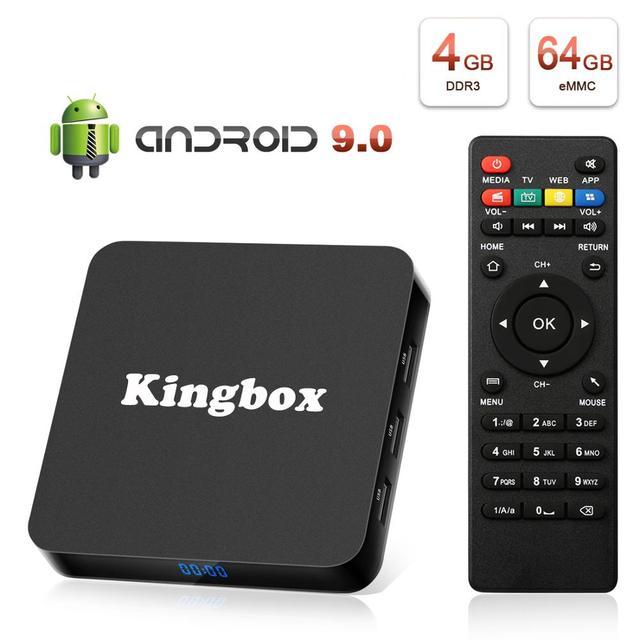 Leelbox K4 MAX Box 4 K TV Box RK3228 Quad Core 64 bit Mali 450 100Mbp Android 9.0 4 GB + 64 GB HDMI2.0 2.4G WiFi BT4.1 Nieuwste