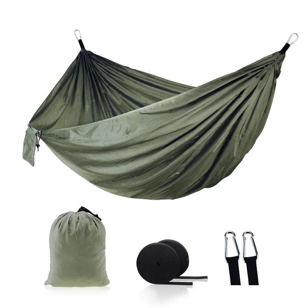 24 цвета 2 человек портативный гамак из парашютной ткани кемпинг выживания сад Flyknit Охота отдыха Hamac путешествия двойной человек Hamak