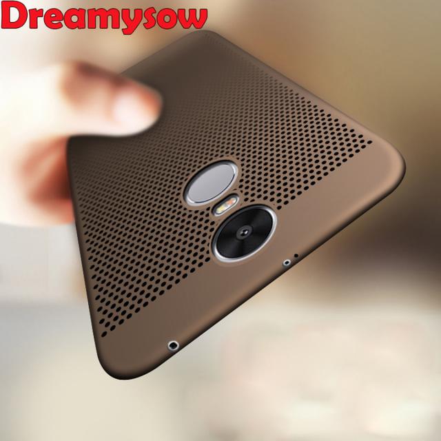 For Xiaomi Redmi 5 Pro 5A 5 Plus Note 4X 5A 4X 4 4A Case Ultra Slim Grid Heat Dissipate Case For Xiaomi Mi5x A1 Hard PC Cover