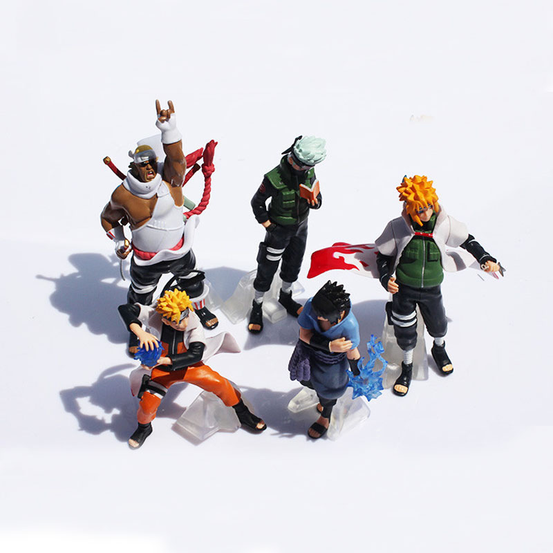 HOT Anime Naruto Figure Toy Model Set 5pcs Action Figures Collezione di bambole in PVC Kakashi Uzumaki Naruto Itachi Toys