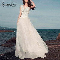 Lover Kiss Vestido De Noiva Sexy Knee Length Beach Wedding Dress With Detachable Train Lace Short Bridal Gowns Seaside Weddings