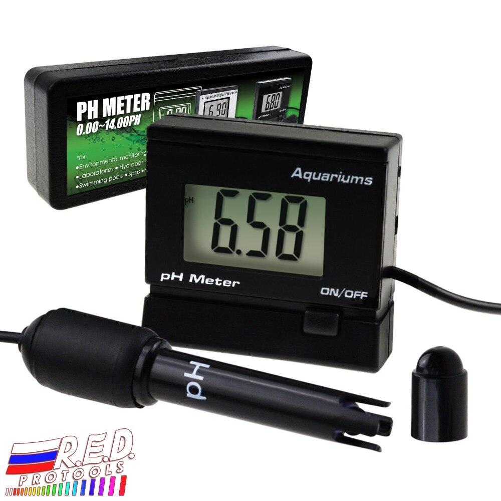 Digital pH Monitor Meter ATC 0~14.00pH Replaceable Electrode Probe BNC Water Quality Monitoring Tester Kit Aquarium Hydroponics