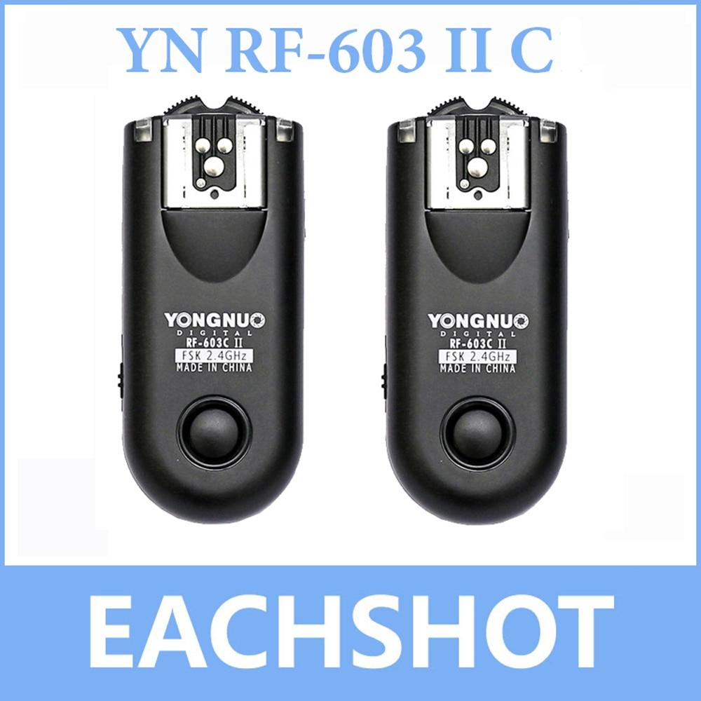 2 PCS Yongnuo RF 603 II RF603 II Wireless Flash Trigger Remote for Canon C1 C3