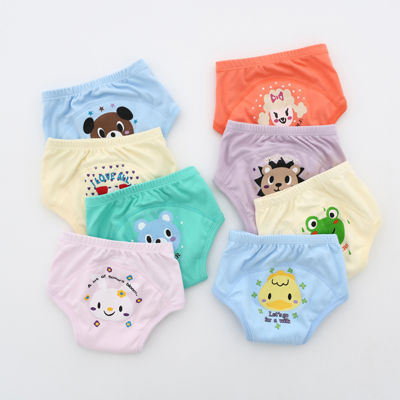 4 Layers Wholesale 20PCS Toilet Training Toddler Reusable Waterproof Potty Panty Infant Baby Cloth Nappy Underpants
