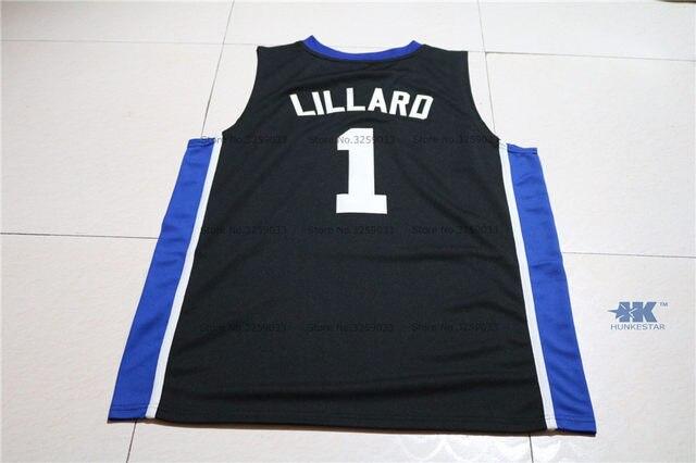 cheaper 244da 9dd60 Mens Damian Lillard Jersey #1 Weber State College Throwback Basketball  Jersey MAN Basket Uniforms Stitched Trikots Shirts