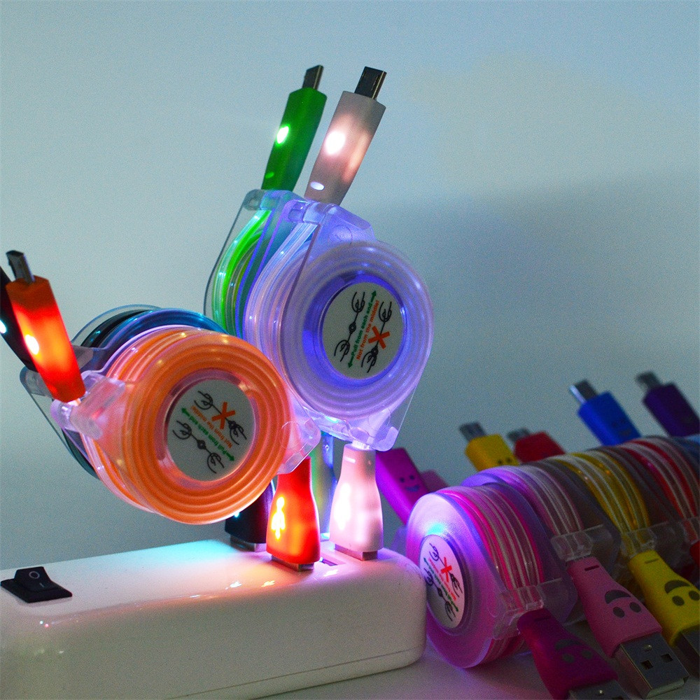 Led-Light Data-Cord Phone-Data-Cable Mobile-Phone USB Micro-Usb Fast-Charge