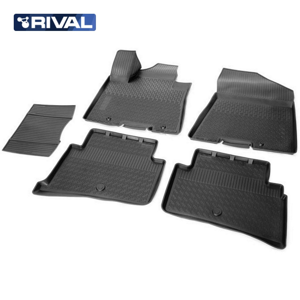 For Kia Sportage QL 2016-2019 3D floor mats into saloon 5 pcs/set Rival 12805003 цена