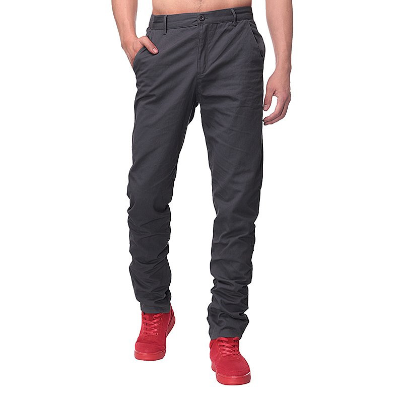 Autumn Men Casual Pants Cargo Pants chinos Mens Slim Fit Long Suit Pants Solid Color Formal Work Trousers 2018 New Male