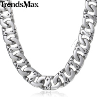 9 5mm Biker 316L Stainless Steel Necklace Mens Boys Link Chain Wholesale Top Quality Christmas Gift