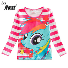 NEAT Cute kids long sleeves blouses pop cartoon sapphire blue red stripes fashion style everyday party kids  T-shirts PD1120