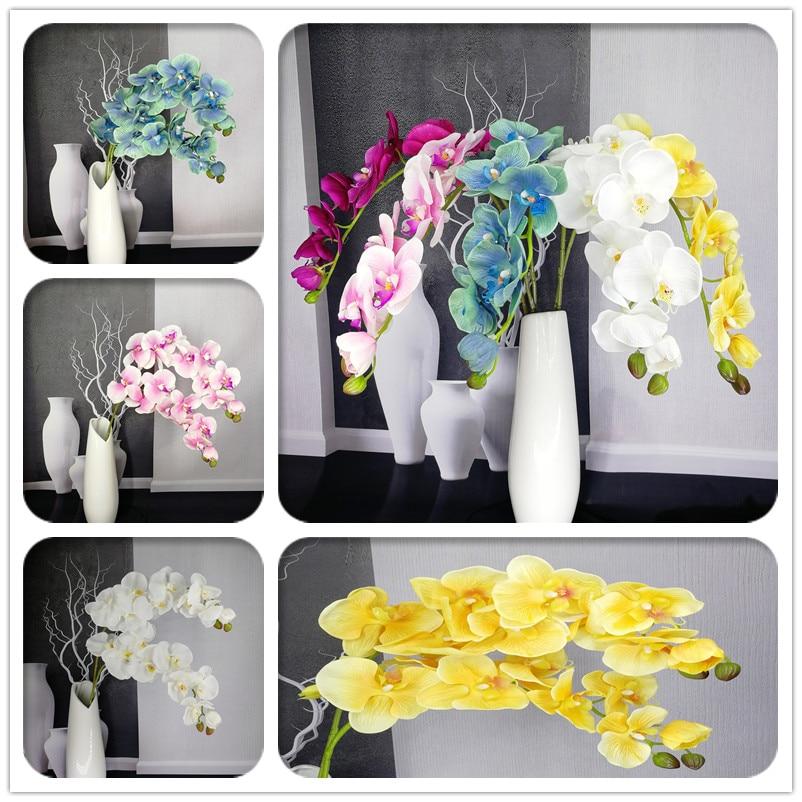 81064aa98bf494 Artificielle papillon orchidée branche fleur décoration Real Touch ...