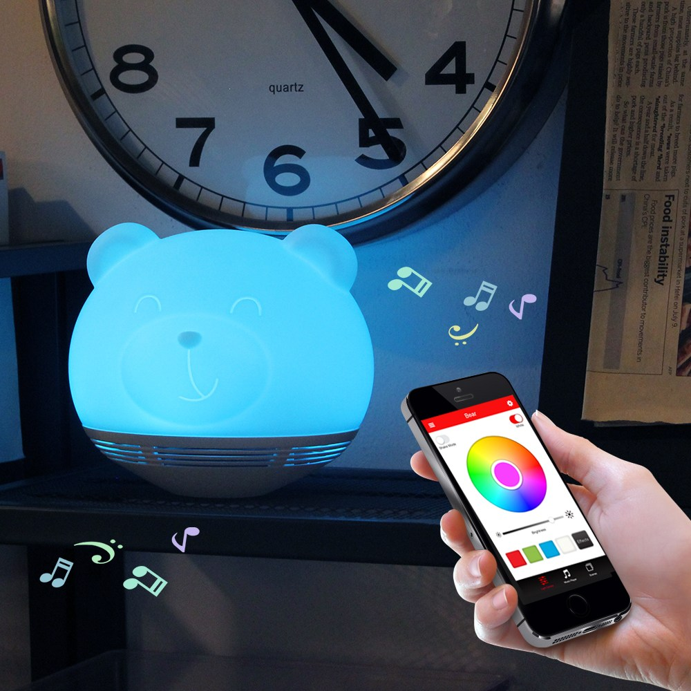 LED Music Play Wireless Charge Animal Airplane Shape Night Light USB Touch Sensor Light Table Lamp Bedroom Novelty Home Lighting color change remote control led animal shape night light