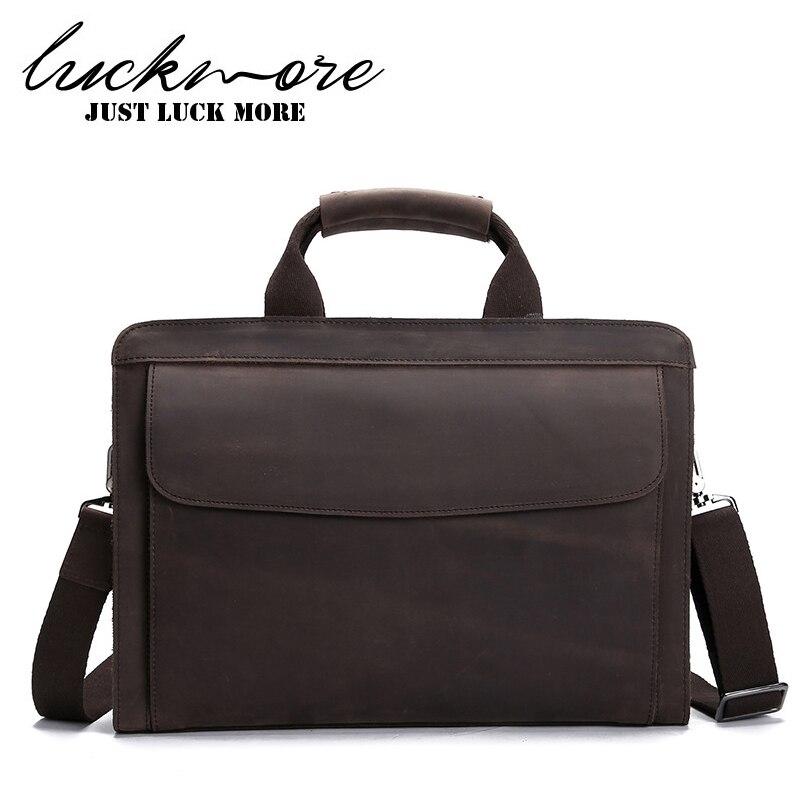 Genuine Leather Men Business Briefcase For 14 Laptop 2017 Designer Man Messenger Bag Male Shoulder Bags Handbags High Quality