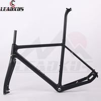 LEADXUS TXR01 Carbon Fiber Cyclocross Bicycle Frame Carbon Cycle Cross Racing Bike Frame Fork Seat Post Headset Size 51/53/55cm