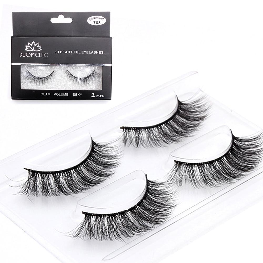 3D Mink Eyelash Extension Cilios 2Pairs False Eyelashes Set Mink Eye Lash Extension Fake Lashes Kit