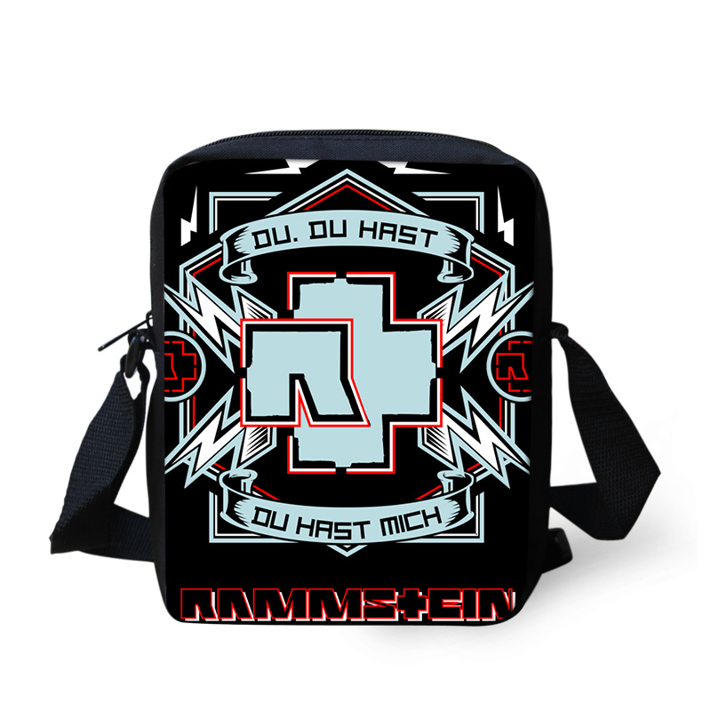 Band Rammstein Printing Shoulder Men Bag Messenger Handbag for Women Cross Body Sac a Main Children School Bags Satchel Mujer (4)