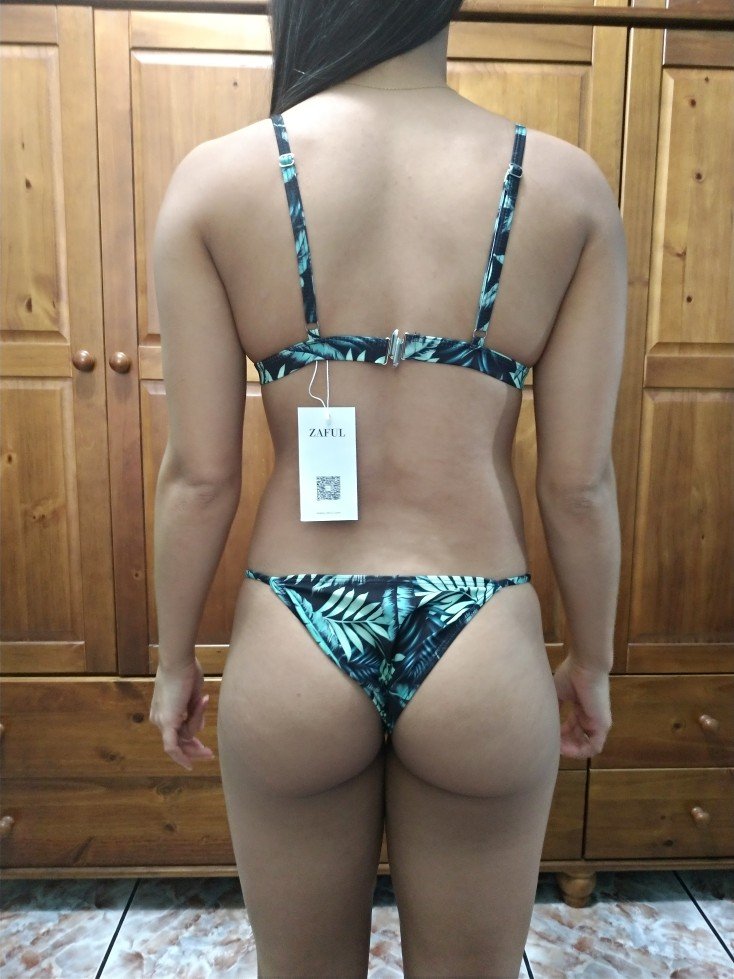 ZAFUL 2017 Купальники для малышек Для женщин сексуальные микро Комплект бикини бразильский купальник бикини с принтом листьев Maillot De Bain Femme ванный комплект бикини