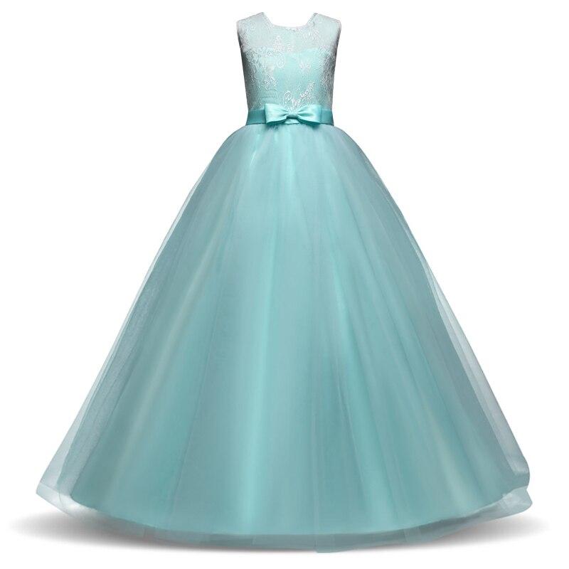 909d9c619 € 12.36 12% de DESCUENTO Niñas princesa party Ball gown 14 adolescente  Niñas Vestidos boda niña vestido largo ropa Navidad Halloween bola en ...