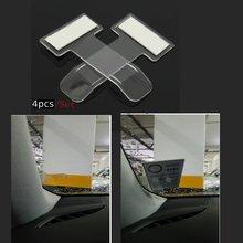 4 шт. Автомобильный держатель для пропуска на парковку автомобиля клип-стикер ветровое стекло оконная застежка наклейка s